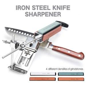 Image 3 - Afilador de cuchillos de cocina de acero y hierro, herramientas profesionales de afilado fijo, ángulo fijo, piedra de afilar de 120 1500Grit, novedad de 2020