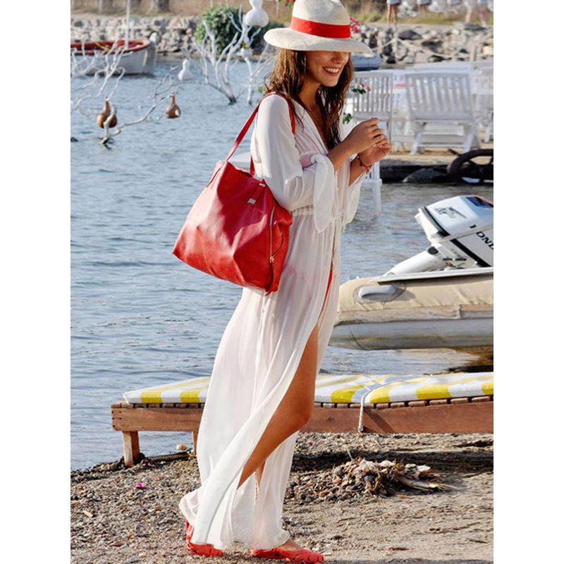 TOPMELON 2019 новая Парео Пляжная туника купальник накидка сексуальное бикини летняя пляжная одежда купальники белое парео пляжное платье