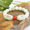 Grade A Natural Round jade Beads Stone  Bracelet with  pi xiu beads ,fashion beads jewelry,hot wholesale jewelry bracelets