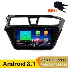 "9 ""2 + 32G 2.5D IPS Android 8.1 Car DVD Multimedia Player GPS Per HYUNDAI I20 2014 2015 2016 2017 18 audio radio stereo di navigazione"
