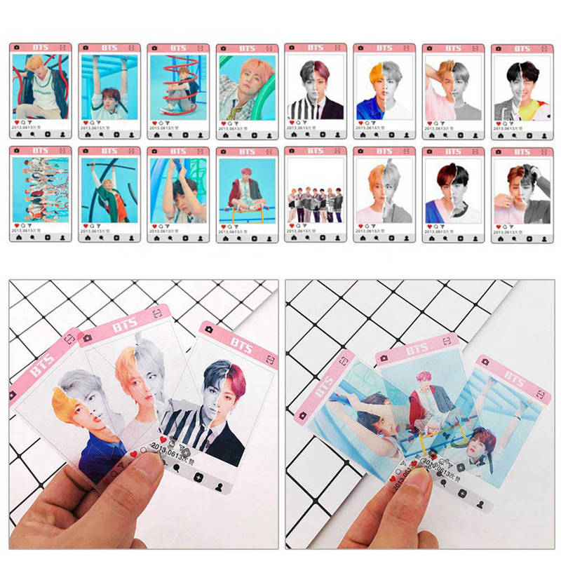 Kpop Bts Love Yourself Answer Pvc Clear Photo Card Bangtan Boys Jungkook Jimin Hd Collective Photocard 8pcs Army Gift Jewelry Findings & Components