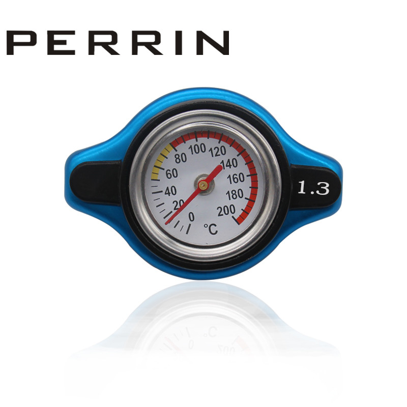 RACING Thermost Radiator Cap COVER + Water Temp gauge 1.3BAR Cover For For Lexus/<font><b>Mitsubishi</b></font>/Scion image