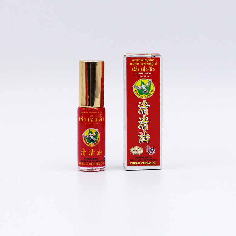 Balm Refreshing Oil 5ml For Headache Dizziness Medicated Oil Rheumatism Pain Abdominal Pain Cheng cheng oil in Massage Relaxation from Beauty Health
