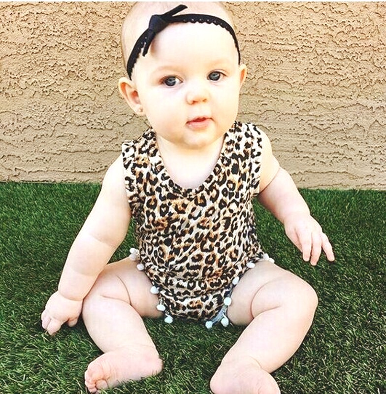 Leopard Print Newborn Baby Girl Cotton spring autumn baby girl clothes bodysuit kids clothes toddler girl cOutfit Clothes