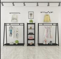 0ea31497401f5 Demir sanat vintage giyim mağazası vitrin rafı altın erkek ve kadın kıyafet  rafı vitrin rafı Avrupa