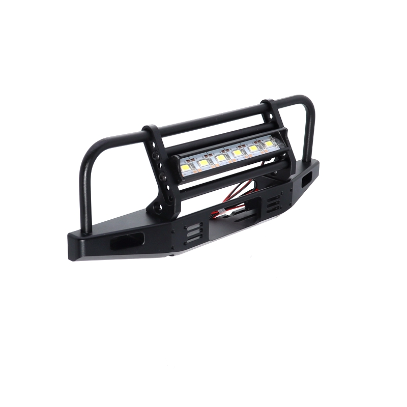 1PCS Metal Front Bumper With LEd Light  for 1/10 Rc Crawler Traxxas Trx-4 Trx4  Axial SCX10 D90 D110 90046 900471PCS Metal Front Bumper With LEd Light  for 1/10 Rc Crawler Traxxas Trx-4 Trx4  Axial SCX10 D90 D110 90046 90047