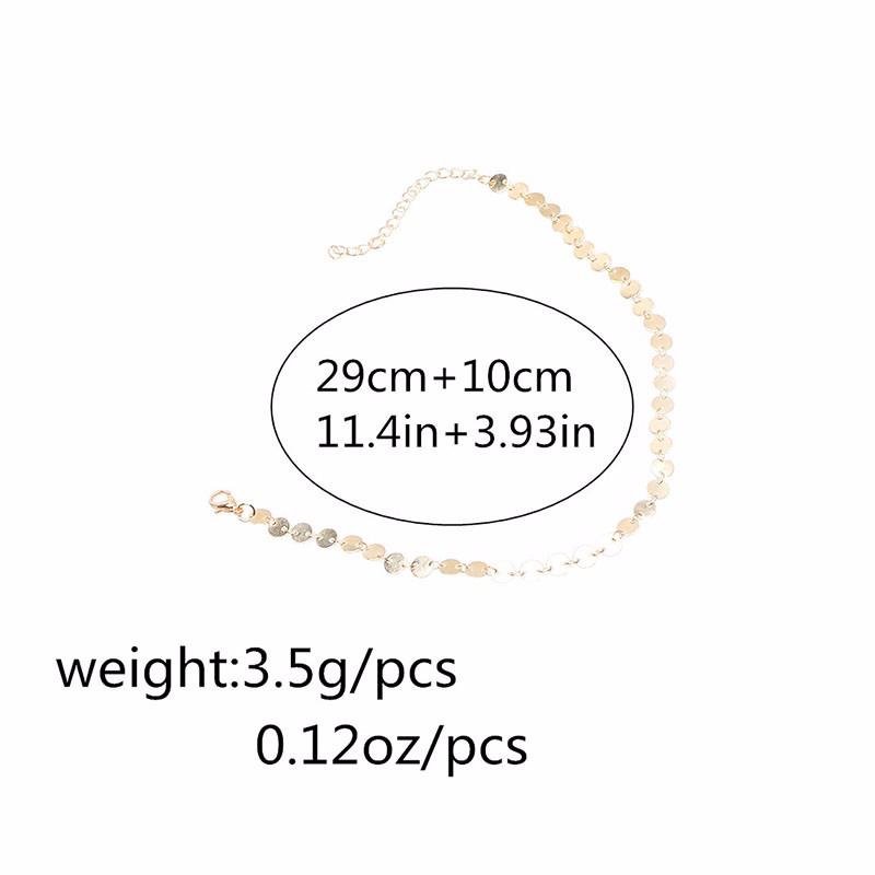 HTB10JQiNVXXXXasaXXXq6xXFXXXi Women's Copper Sequin Vintage Choker Necklace