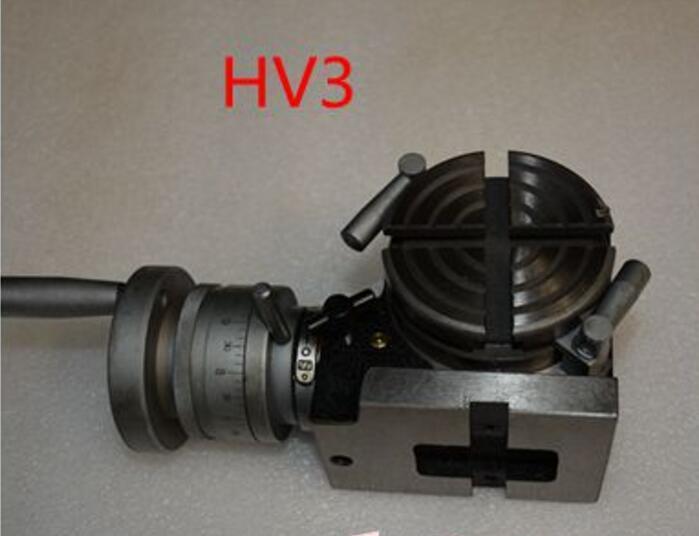 HV3 Diameter 75mm Vertical And Horizontal Milling Machine Horizontal Vertical Rotary Table
