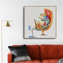 Watercolor Frog Animals Canvas Painting Wall art Picture for Living Room Bedroom Art Poster Decoration Morden Print