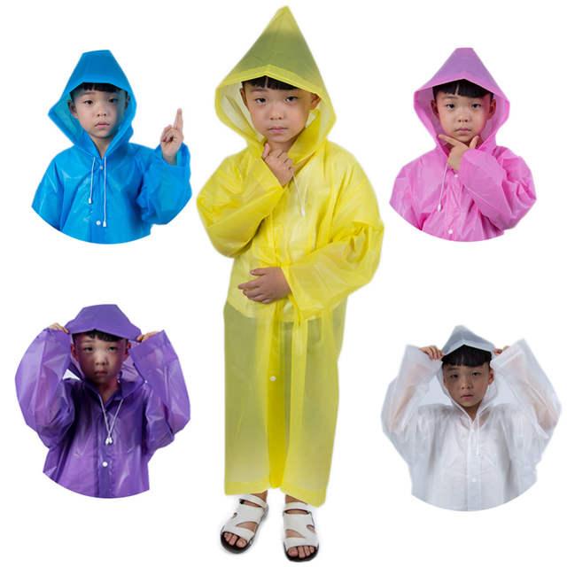 Boys Children Thickened EVA Raincoat Cartoon Baby Rain Poncho Kids Rain  Coat Girls Rain Gear Waterproof Cute Children's Sets