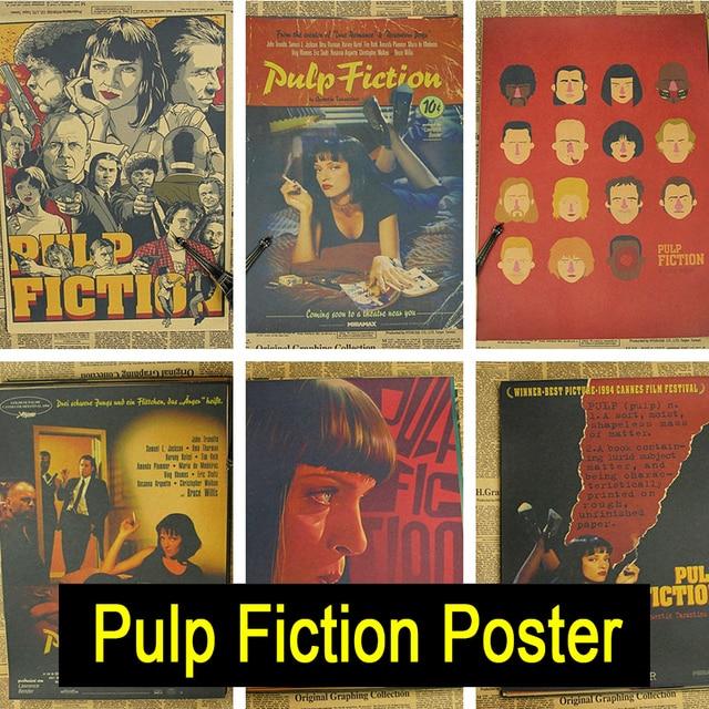 Pulp Fiction Vintage Retro Matte Kraft Paper Antique Poster Wall Sticker Home Decora