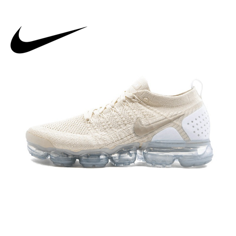 купить Nike Air Vapormax Flyknit 2.0 Women's Running Shoes White Lightweight Non-slip Shock Absorbing Breathable Sneakers 942843 800 по цене 6191.85 рублей