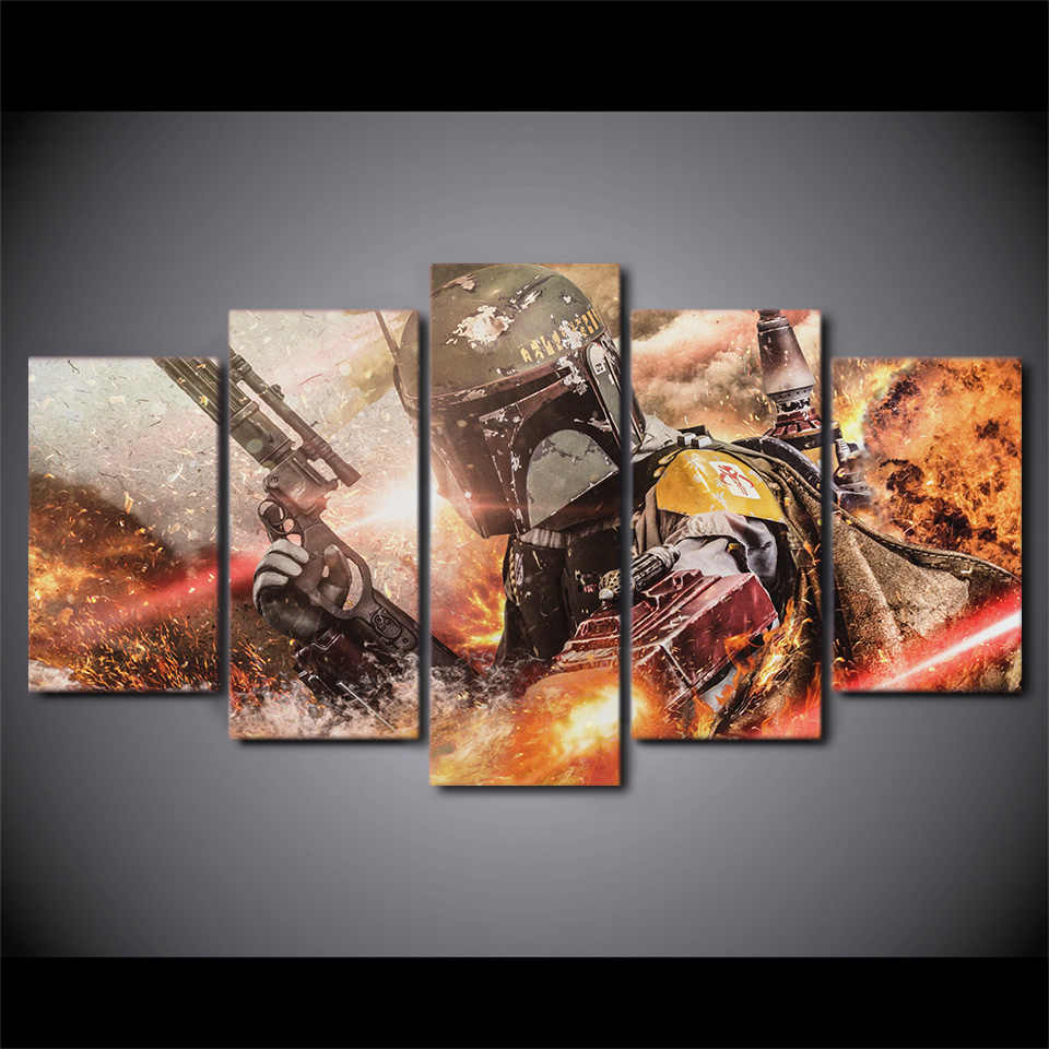 5 pieces / set of Movie Poster Series wall art for wall decorating home Decorative painting on canvas framed/FREE ART-Five-40