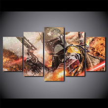 5 pieces / set of Movie Poster Series wall art for decorating home Decorative painting on canvas framed/FREE ART-Five-40