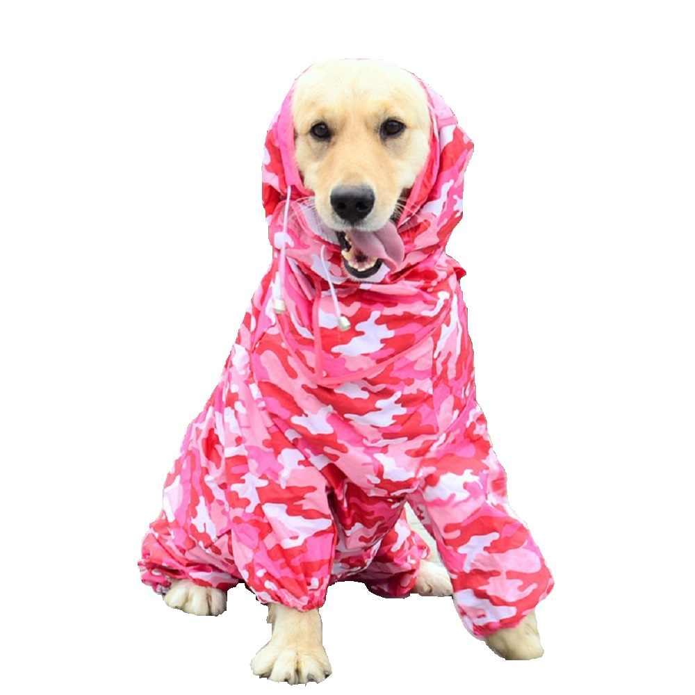Lớn Trùm Đầu Chó Áo Mưa Áo Lớn Cho Thú Cưng Đuôi Nơ Chó Quần Áo Mưa Chống Thấm Nước Quần Áo Cho Chó Hưu Vàng Labrador Wlyang