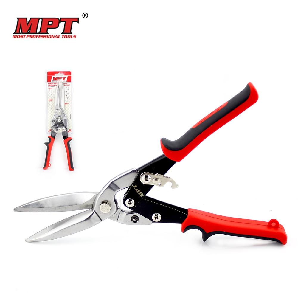 MPT 30CM/13'' Tin Sheet Metal Snip aviation scissor iron plate cut shear household tool industrial industry work Free Shipping valianto h61202 10 inch right cut aviation snip