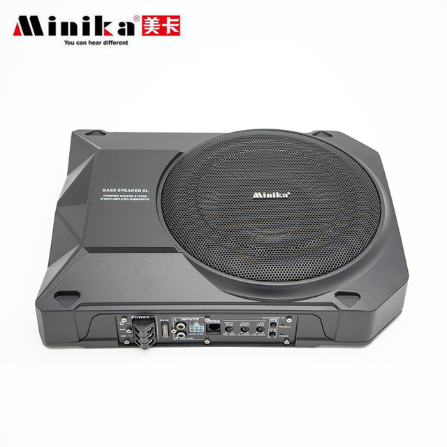 Minika Car Active Speaker System Bass Speaker Thin 10 Inch Heavy