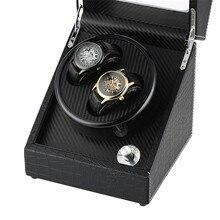 Черный 2+ 0 механические самообмотки часы намотки высокого качества коробка с подзаводом тихий двигатель случае роскошный автоматический шейкер Коробка для хранения