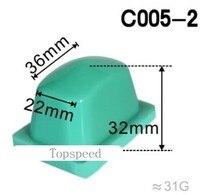 Cabezal de almohadilla de goma de silicona para impresora, almohadilla para máquina de impresión, 36x22mm