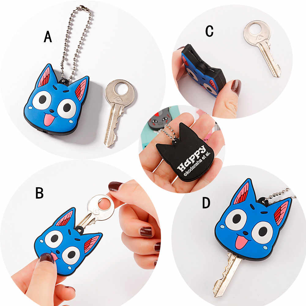 Bonito dos desenhos animados silicone luz tampa chave mickey hello kitty chaveiro saco feminino charme acessórios chaveiros porte clef
