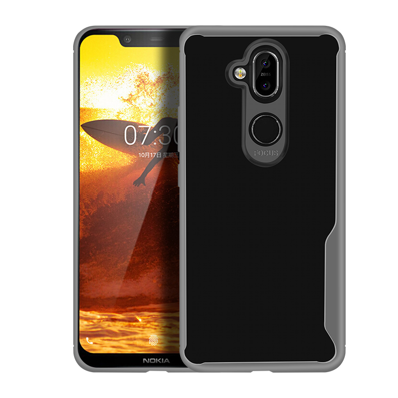 Shockproof Armor Phone Case For Nokia X7 X6 X3 3 1 7 1 Plus 5 1 8 1Transparent Soft Silicone Tpu Case For Nokia 2 3 5 6 8 Cover in Fitted Cases from Cellphones Telecommunications