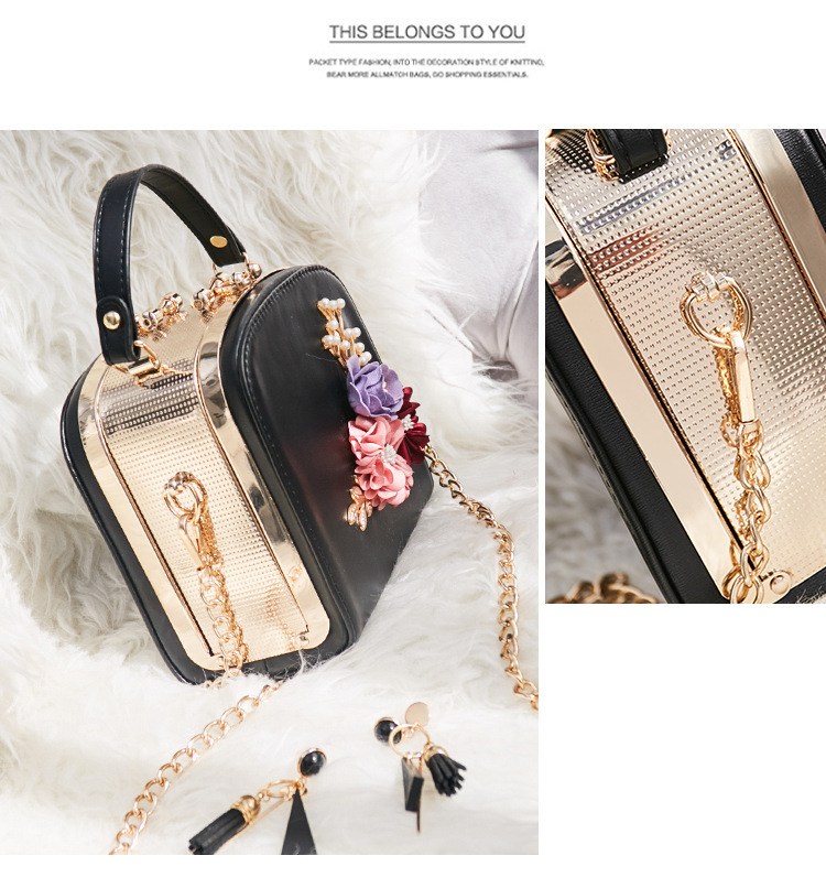 Women crossbody bag female messenger bag with long and short strap fashion designs flowers 53