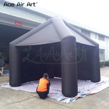 Portable Black Advertising Inflatable Canopy/ Inflatable Square Tent With Fan