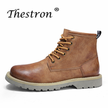 Popular Men Working Safety Shoes With Fur Rubber Ankle Winter For Black Brown New Trend Western Youth