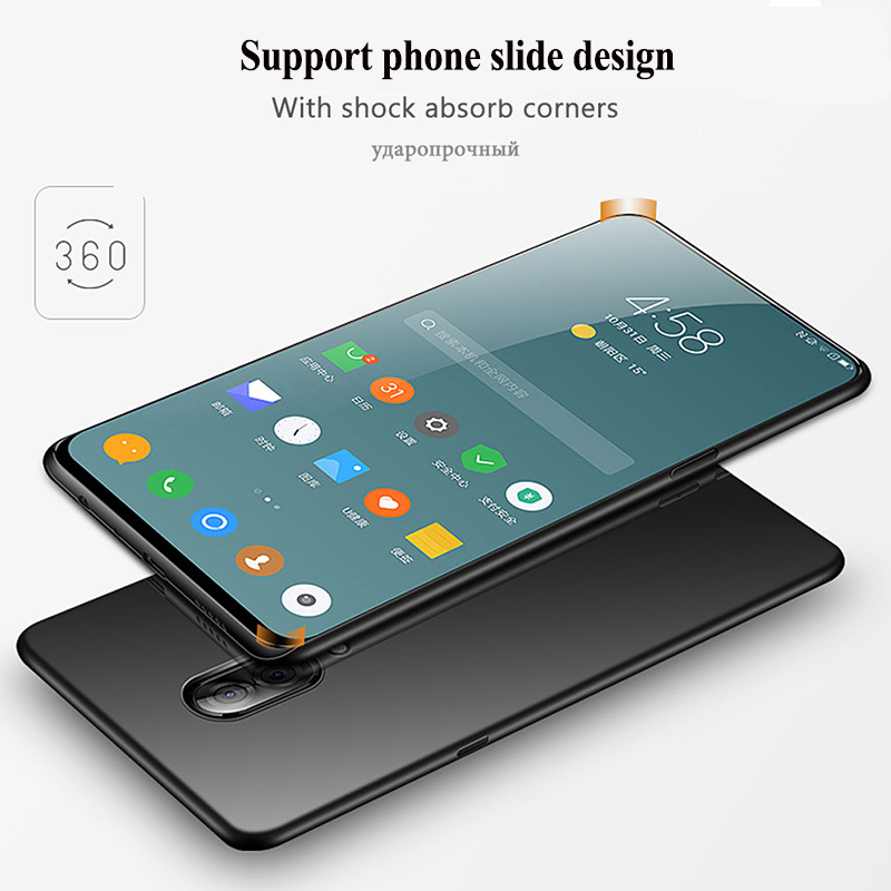 Soft Matte Case For Lenovo Z5 Pro Case TUP Silicone Ultra-thin Shockproof Bumper Back Cover For Lenovo Z5Pro Support phone slide