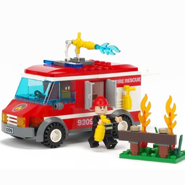 156 Stks Licht Brandweerwagens Kind Bouwstenen Toy Gemonteerd