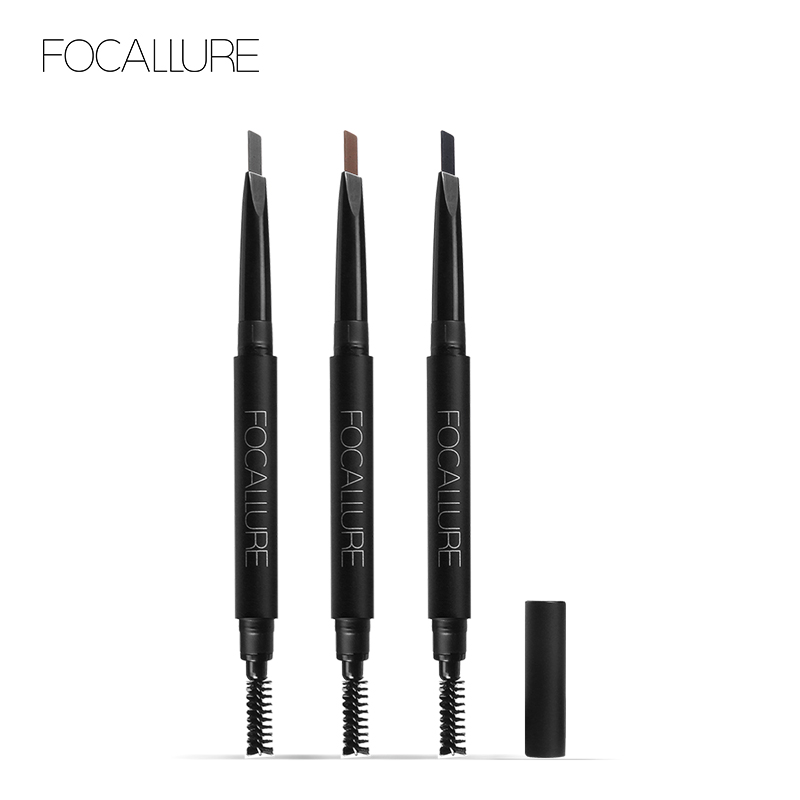 FOCALLURE 3 colors  Eyebrow Pencil Waterproof Long lasting Eye brow Brush Makeup Automatic Enhancer