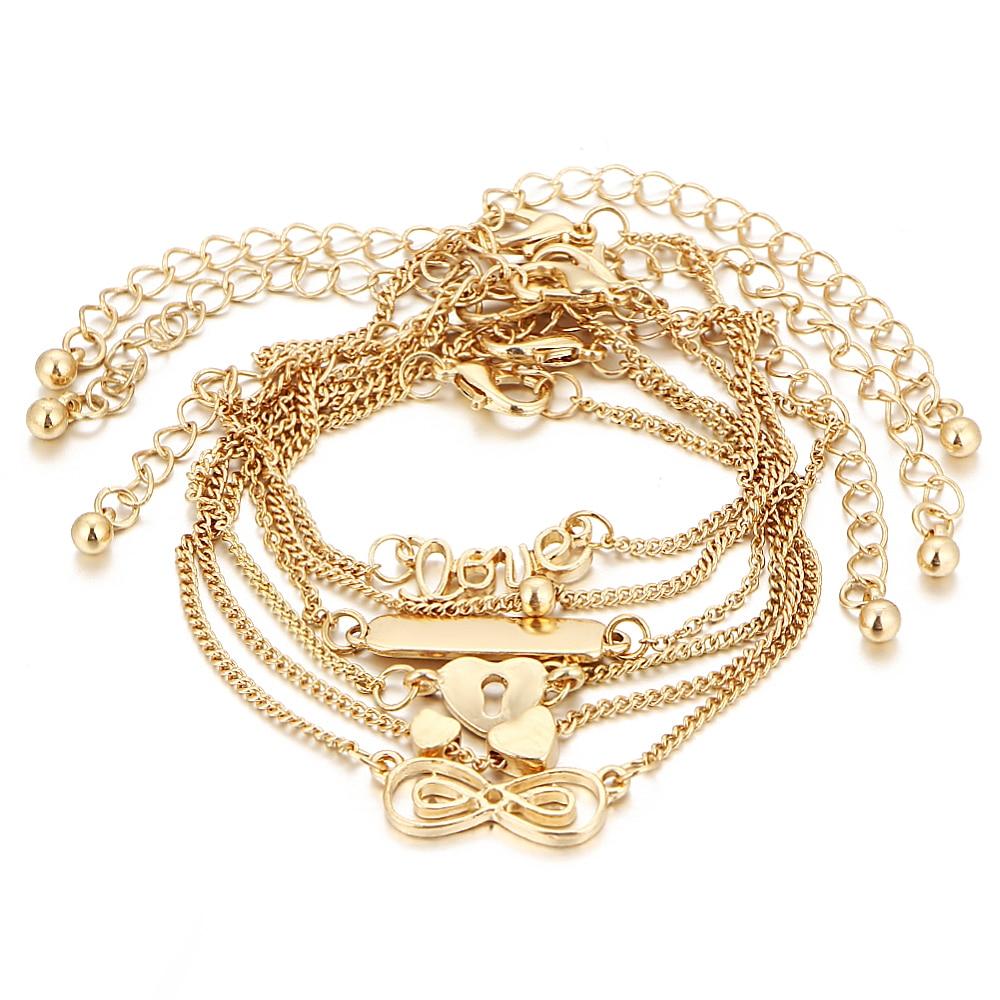 17KM 5 st / set Bijoux Fashion Vintage Infinity 8 armband & armband - Märkessmycken - Foto 4