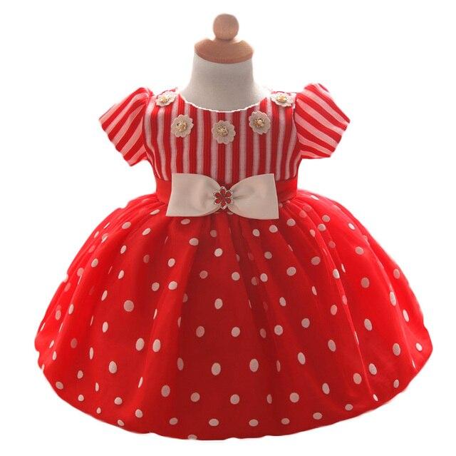 Детские Красные Платья Для Малышей Девушки Крещение Подарок Девочка первый День Рождения Носить Младенческой Принцесса Платья Свадебное Платье