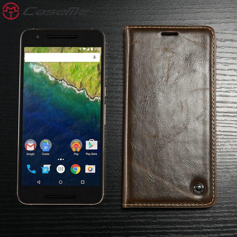 CaseME For Google Nexus 5 6P Case Retro Magnet Wallet Leather Phone Cases Stand Flip Holder Card Cover Back Coque Capa Fundas