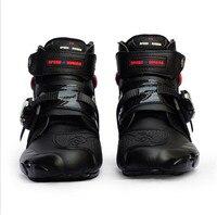 Probiker ankle leather Motobotinki motorcycle boots men racing bota moto motor bike shoes motorboats for motocross black
