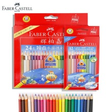 Faber Castell Art GRIP Watercolor Pencils Set with Paintbrush 12 24 Coloured Pencils Drawing Art for