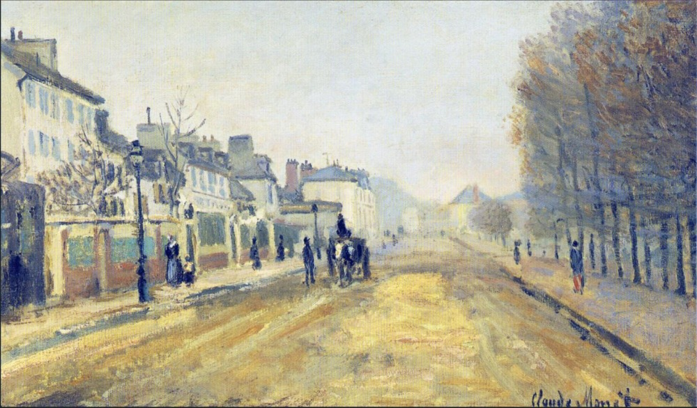 High quality Oil painting Canvas Reproductions The Boulevard Heloise in Argenteuil (1872) By Claude Monet hand painted