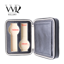 цена на Rolamy Portable 4 Grids Luxury PU Leather Showing Display Wrist Watch Collector Storage Box Case Holder Tray For Rolex Omega