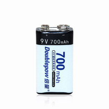 2 шт./лот Doublepow DP-9V700mAh литий-ионных аккумуляторных батарей в фактический высокое Ёмкость 700 мАч Батарея ячейки, экспресс-доставка