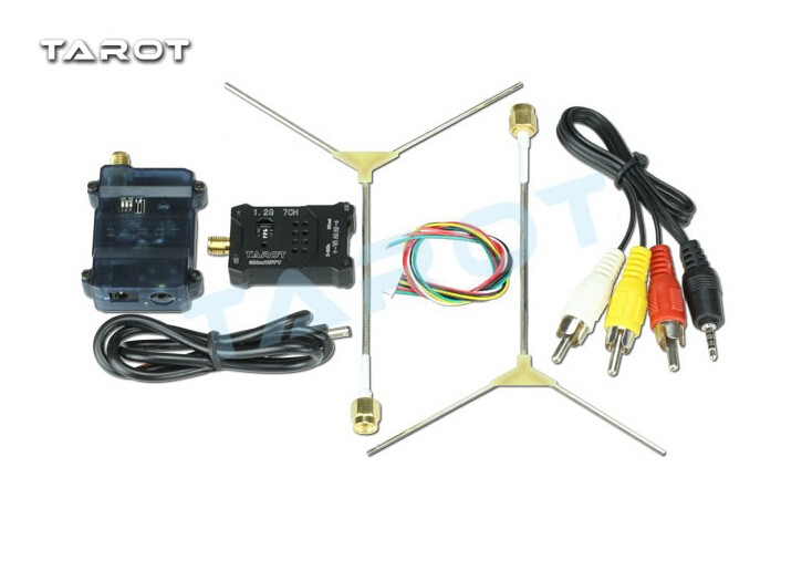 Tarot TL300N5 1.2G 600MW AV Wireless Wiring Transmitter Receiver TX RX Set with 1.2G Antenna for FPV F18657
