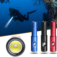 DIV12S 10W 1050LM XM-L2 U4 LED Diving Flashlight Underwater 200 Meters with 10 Degree Spotlight Waterproof Switch for