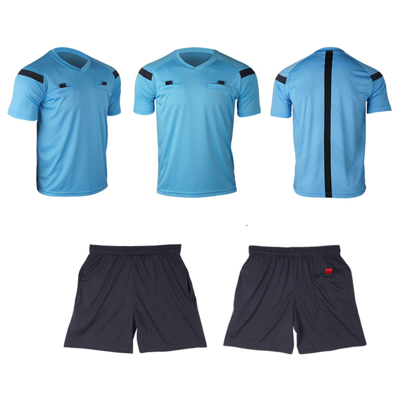 Referee Jersey Soccer 2017 Football Judge uniform Shirt Suit Tracksuits survetement football maillots de football 4