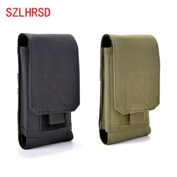 SZLHRSD para Doogee BL12000 Pro caso al aire libre MOLLE de Camo del ejército camuflaje bucle gancho bolsa para Blackview A10/VKworld Mix/Irbis SP551
