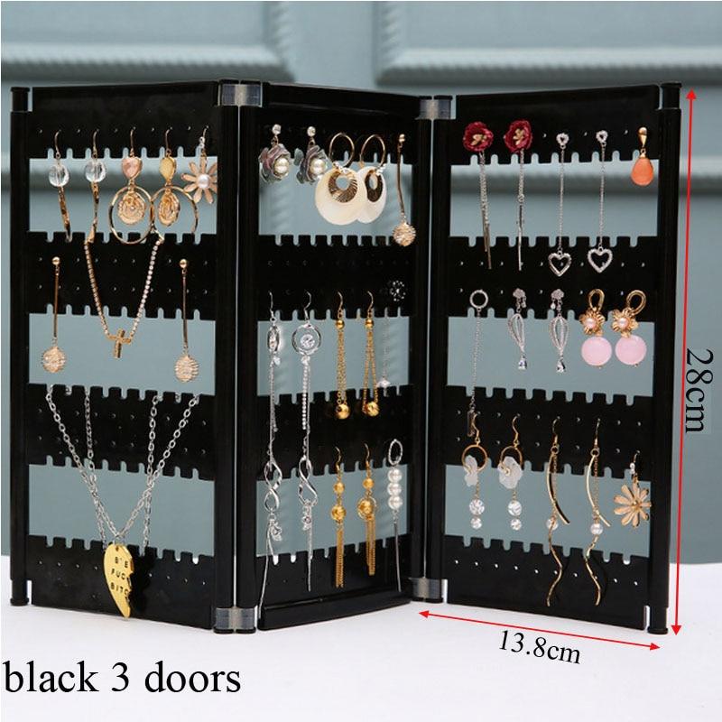 Thickened Flat Top Plastic Stud Earrings Display Storage Rack Jewelry Organizer Plastics Earring Storage Doors Design