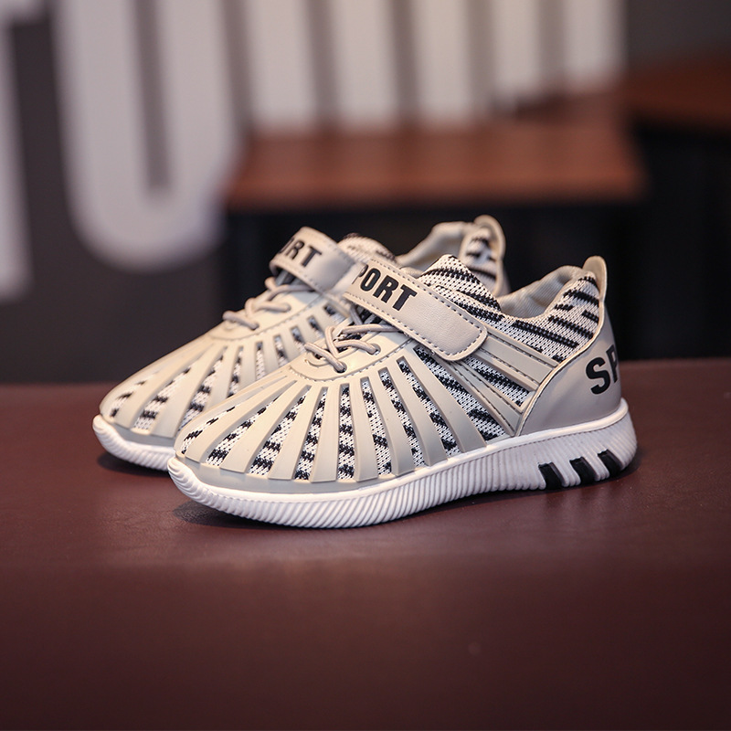 save off 93530 6fd98 2017 spring brand high quality yeezy Sneaker boys girls sports shoes sriped  casual shoes boy 3D travel shoes light running shoes-in Sneakers from ...