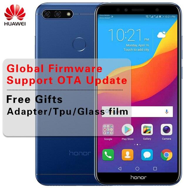 """Huawei Honor 7A Глобальный прошивки Octa Core мобильный телефон 5,7 """"1440*720 P Snapdragon 430 Dual SIM Android 8,0 смартфон"""