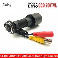 Door Eye Hole CCTV Analog Mini Home Peephole Camera 700TVL 1/3 Sony Effio E CCD 4140+811\810 Mini 170 Degrees Security Camera