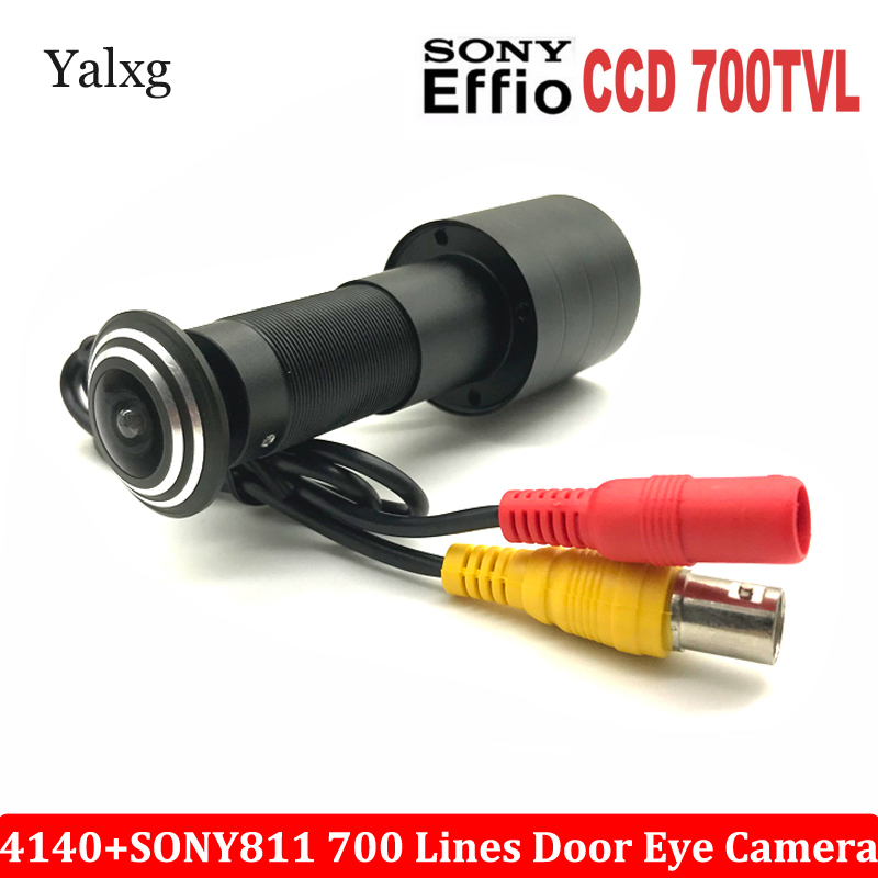 Door Eye Hole CCTV Analog Mini Home Peephole Camera 700TVL 1/3 Sony Effio E CCD 4140+811\810 Mini 170 Degrees Security Camera