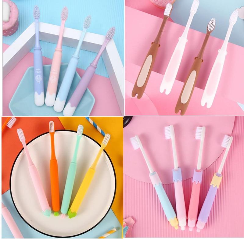 4 pecas criancas escova de dentes escova de dentes adulto casais incluem 4 pele de silicone