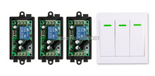 New DC12V 1CH Wi-fi Distant Management Swap System Receiver + Wall Panel Distant Transmitter Sticky Distant Good Dwelling Swap